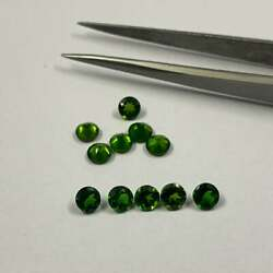 Wholesale Lot 3mm Round Cut Natural Chrome Diopside Loose Calibrated Gemstone