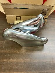 1952-53 Ford Rh Lh Front Bumper Guard Pair Nos 121
