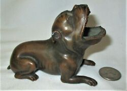 Antique Jennings Brothers Usa Dog Art Statue Sculpture Ashtray Paperweight Toy