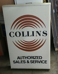 Collins Radio Sign Vintage Rare Neon Products Inc Npi Non-lit Sign 24 X 36