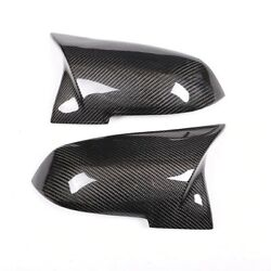 For Bmw 1 Series F20 Mirror Cover Abs Carbon Fiber Rear View Side Caps Trim New