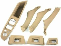 Door Handle Left Right Side Pull Trim Panel Beige For Bmw 5 Series F10 F11 Lhd