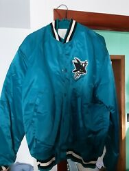 San Jose Sharks Vintage Starter Jacket Satin Nhl Bnwt X Large