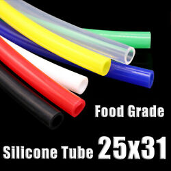 Food Grade Silicone Tubing 25x31mm Vacuum Hose Drinking Pipe Multiple Colour