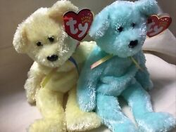 Vintage Beanie Babys Sherbert Yellow And Green, 2001. Mint Condition.