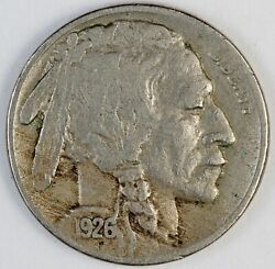 1926-s United States Buffalo Nickel 5 Cents - Vf Very Fine Condition