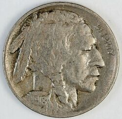 1918-d United States Buffalo Nickel 5 Cents - Vf Very Fine Condition