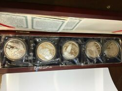 China 1993 Famous Chinese Mountain Silver Coin 5x1 Oz Coa