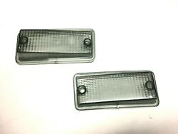 Pair Clear Smoked For Indicators Front Of Fiat 126 All Models