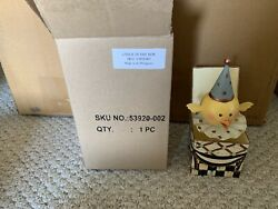 Mackenzie Childs Chick In The Box New Courtly Check Easter + Box