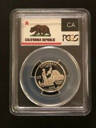 Year Set 2005-s Statehood Quarters - Proof 69 Deep Cameo Pcgs State Flag Label