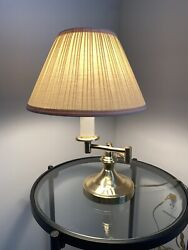 Vintage Brass Gold Swing Arm Lamp Candlestick Switch 17.5andrdquo