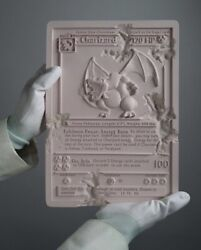 Daniel Arsham Pink Crystalized Charizard Card Le 500. In Hand.