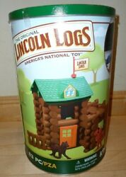 New Hasbro The Orginal Lincoln Logs Tin Box 83 Pieces K'nex Toy Fort Red Pine