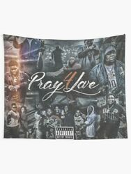 Rod Wave Pray Wall Tapestry Rod Wave Rapper Wall Hanging Hip Hop Wall Art