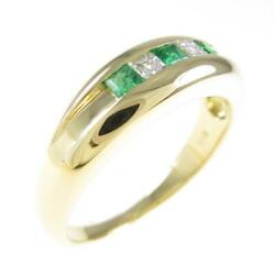 Authentic K18 Yellow Gold Emerald Ring 260-003-718-8115