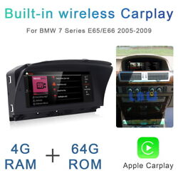 8-core Android Car Gps Stereo Wireless Carplay For Bmw 7 Series E65 E66 2003-09