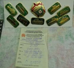 Vintage - Ussr - Russia - Military Army Tanks Lot - Uniform Pins And Badge