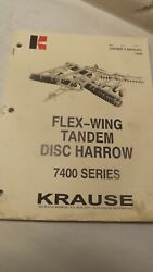 Krause Owners Manual For 7400 Series Flew-wing Disc Harrow