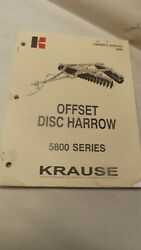 Kuhn Krause Owners Manual For 5800 Offset Disc Harrow