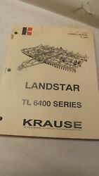 Krause Owners Manual For Tl 6400 Series Landstar Soil Finisher Disc Harrow