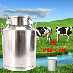 50l Stainless Steel Milk Can Dairy Cattle Liquid Container 13.25 Gal 380mm/15