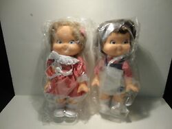 Vtg Campbells Soup 1988 Special Edition Boy And Girl Campbell Kid Dolls Retired
