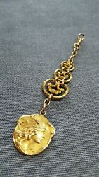 Pocket Watch Chain And Fob Pendant Art Nouveau Marianne Becker Rolled Gold