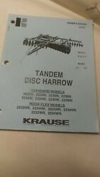 Kuhn Krause Owners Parts Assembly Manual 2200 Series Tandem Disc Harrow