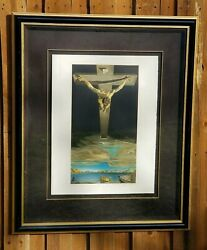 Salvador Dali Signed And Numbered Lithograph Chris Of St John Of The Cross 50×38