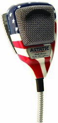 Astatic 636l-flag 4 Pin Mic Stars And Stripes