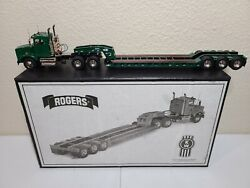 Kenworth T800 With Rogers Lowboy - Green - Ccm Brass 148 Scale Model New