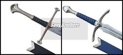 Lotr Pair Of Glamdring Sword And Anduril King Aragon's Narsil Swords + Scabbards