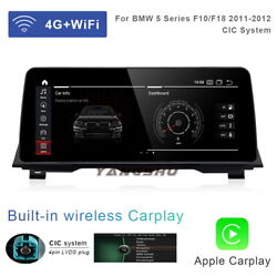 12.3 Android 10 Car Gps Video Wifi Auto Unit + Carplay For Bmw 5 Series F10 F18