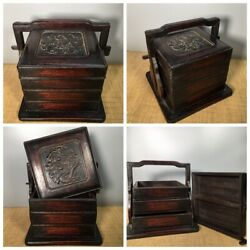 China Antique Carving Furniture Rosewood Storage Boxes Wooden Chest Jewelry Box