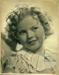 Shirley Temple To Estelle Love Authentic Signed 11x14 Sepia Photo Bas A02046