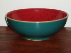 Harlequin By Denby 6.5 Soup/cereal Bowl Discontinued Red/green England