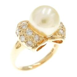 Authentic K18 Yellow Gold Akoya Pearl Ring 270-003-373-4115