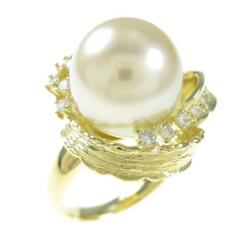 Authentic K18 Yellow Gold South Sea Pearl Ring 260-003-718-6975