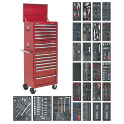 Sealey Superline Pro Tool Chest Combination 14 Drawer-red And 1179pc Tool Kit