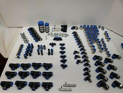 Lot Of 150 Pcs Mixed New Festo Push To Connect Fittings Air Pneumatic Valve Bank
