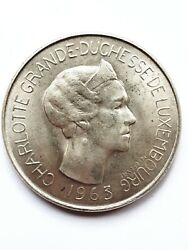 1963 Luxembourg 100 Francs Silver .835
