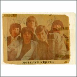 The Rolling Stones Autographed Newspaper Cutting