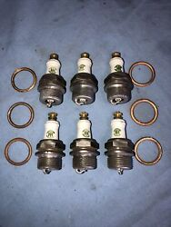 6 Ac Ihc Truck Tractor A6 Vintage Antique Spark Plugs 7/8 Threads 1920 - 1930s