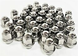 40 Maclean Stainless Capped Lug Nuts 1/2 Inch For Aluminum Trailer Wheel Rims