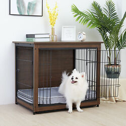 Small Large Dog Crate Indoor Pet Kennel End Table Stand Dog House Cage Furniture