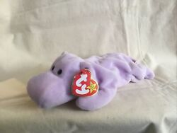 Vintage Happy The Hippo 1994. Mint Condition,kept Plasric Container
