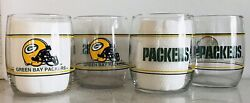 Green Bay Packers Set Of 4, 13.5oz Drinking Glasses. Shell Gas 1990's Promo