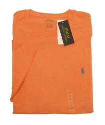 Polo Big And Tall Menand039s Orange Heather Crew-neck Short Sleeve T-shirt