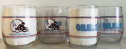 Houston Oilers Set Of 4, 13.5oz Drinking Glasses. Shell Gas 1990's Promo